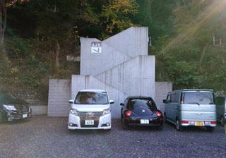 犬山寂光院の観光バス用駐車場