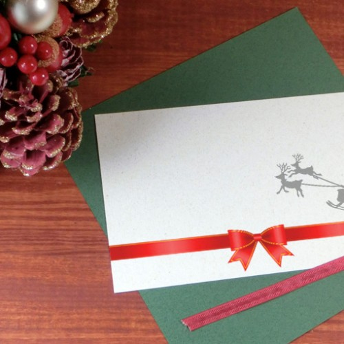 クリスマスカード、サンタからの手紙